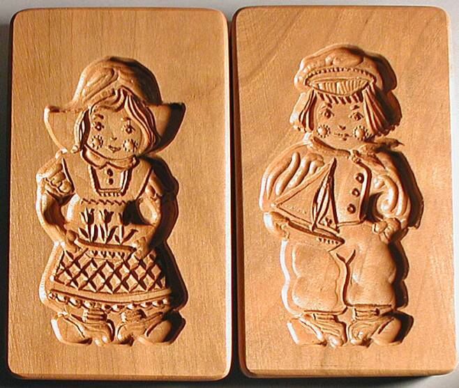 Speculaas Cookie Molds For Shaping Dutch Style Windmill