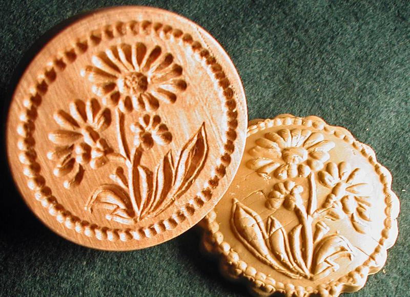 CHRISTMAS COOKIE STAMPS, hand-carved by woodcarver Gene Wilson ...
