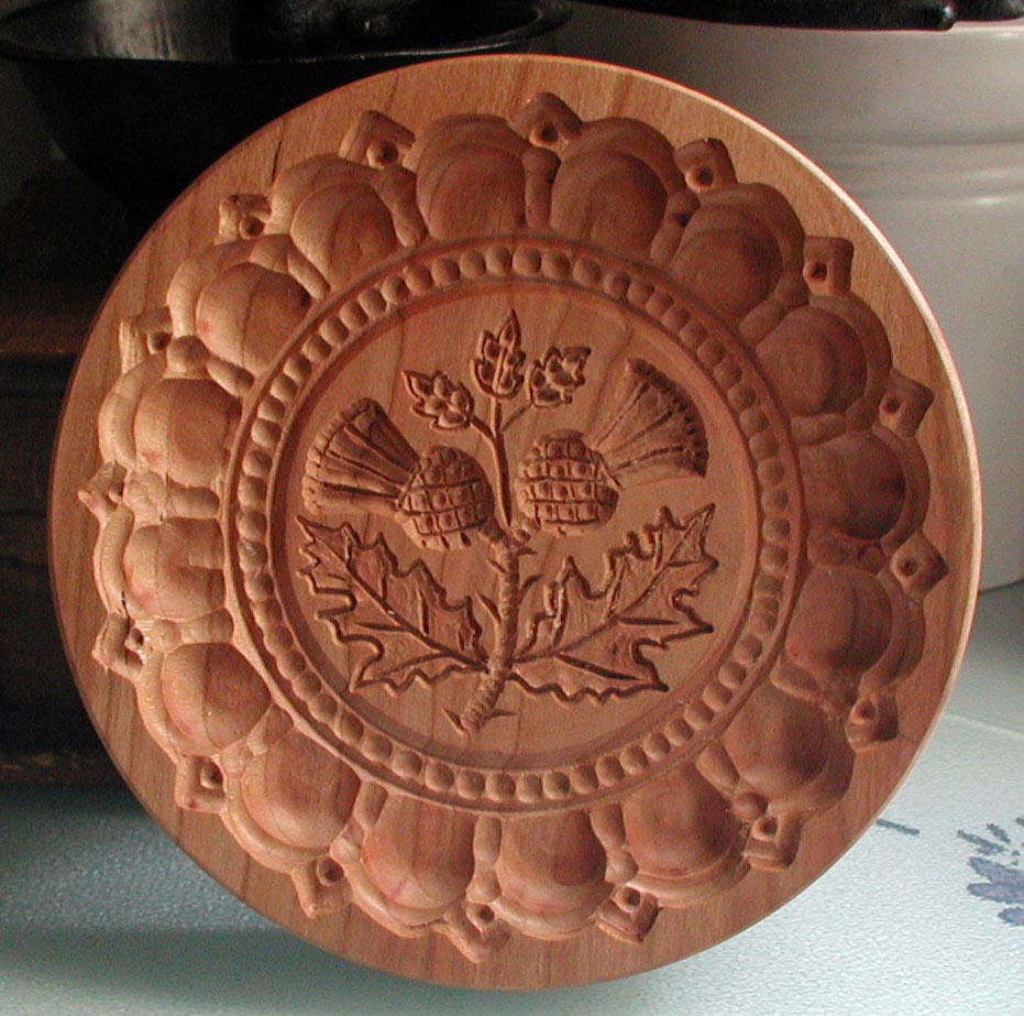 Scottish Thistle Shortbread Cookie Molds