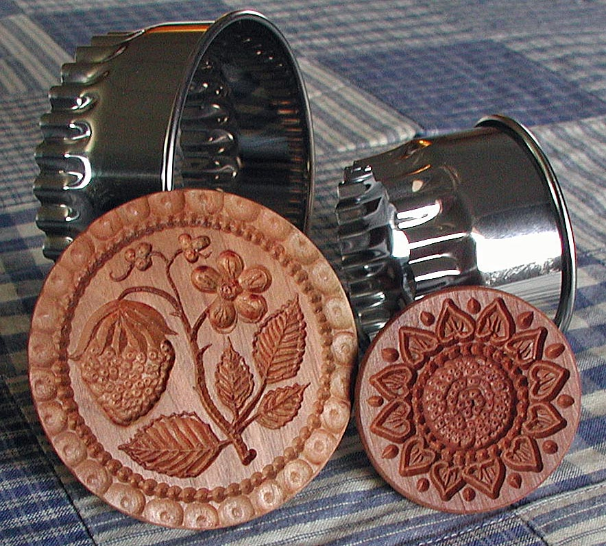COOKIE STAMPS Hand Carved By Gene Wilson